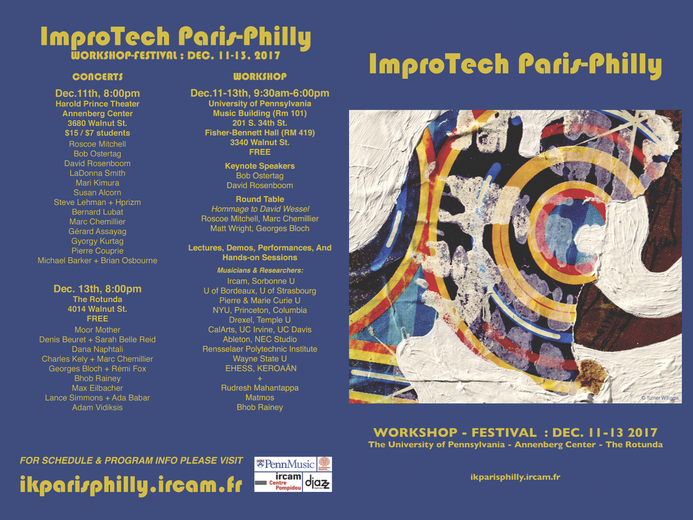 ImproTech Paris-Philly, programme  © Turner Williams