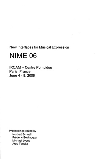 NIME, New Interfaces for Musical Expression